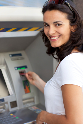 Lady At ATM